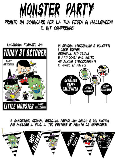 Monster Party- decorazioni per Halloween