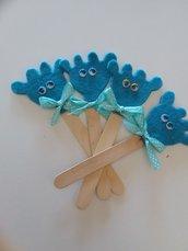 Segnalibro  segnaposto giraffa azzurra
