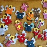 Angioletti biscotto di feltro