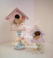 Casetta/nido in legno Shabby Chic Vintage