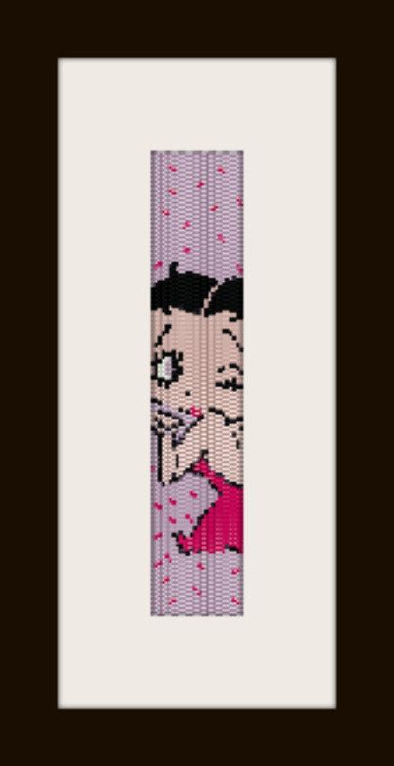 schema bracciale Betty 4 in stitch peyote ( 2 drop ) pattern - solo per uso personale