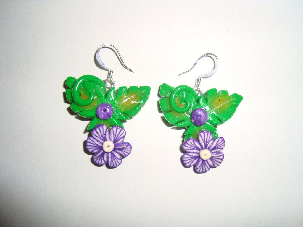 Orecchini Nature Violet