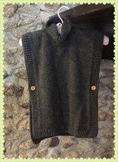 mantella bambina in lana