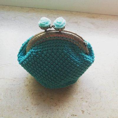 Portamonete Tiffany ad Uncinetto