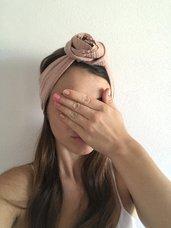 Fascia per capelli cotone rosa