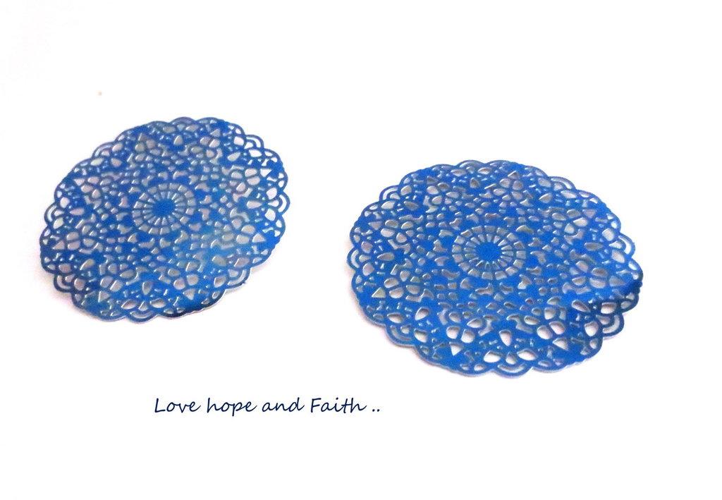 LOTTO 2 chandelier acciaio inox blu (40mm) (cod. inox new)