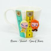Tormund e Brienne mini amigurumi bambola da il trono di spade - orecchini o portachiavi