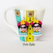 Orecchini uncinetto amigurumi Frida Kahlo
