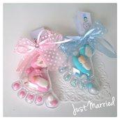 Confetta Nascita, confetti decorati, piedino bimbo bimba