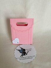 Scatolina porta confetti rosa farfalle