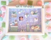 Quadretto nascita - memory frame - linea bimbo