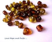 """LOTTO 50 gr perle in vetro di """"Brun"""" (cod.Vetro mix)"""