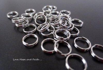 LOTTO 50 anellini doppi acciaio inox (4x0,5mm) (cod. inox new)