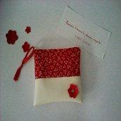 Mini bag red flower