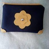 Mini bag blu ocra