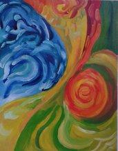 dipinto a mano (34) 0lio su carta astratto poster-quadro