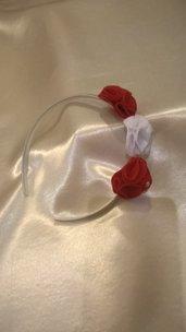 Cerchietto con roselline