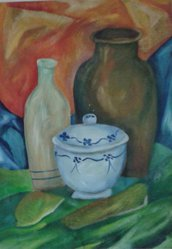 dipinto a mano (13) olio su carta, ispirato a Morandi quadro-poster