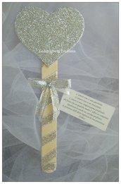Segnaposto Matrimonio/Promessa/Nozze d'argento/Nozze d'oro cuore
