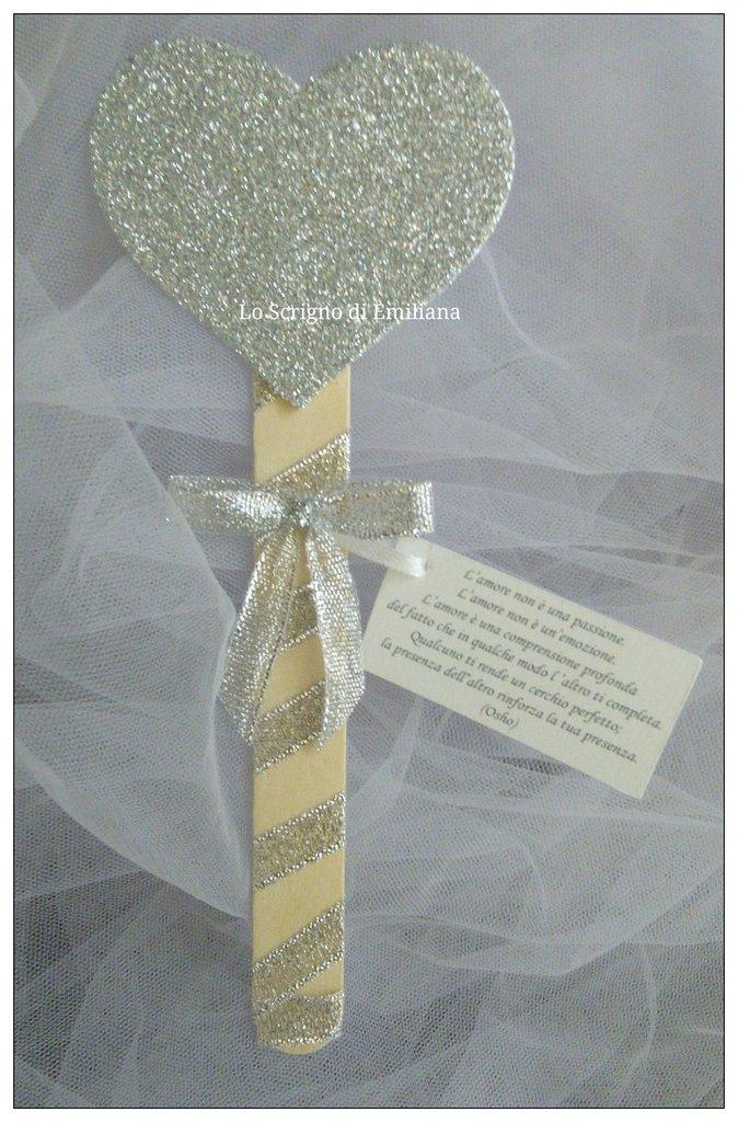 Favoloso Segnaposto Matrimonio/Promessa/Nozze d'argento/Nozze d'oro cuore  GP21