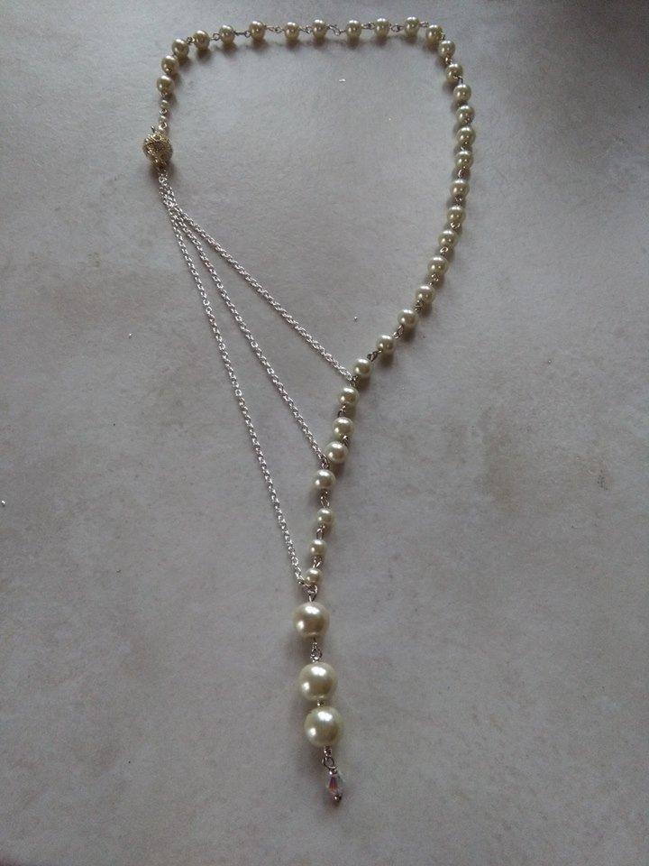 collana in perle swarowski