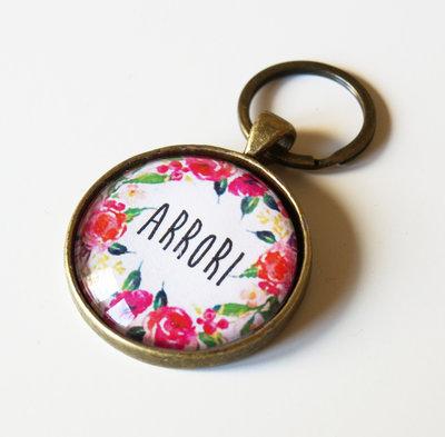 Portachiavi floreale Arrori pink