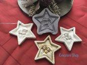 Stampo stella di Natale con sacra famiglia