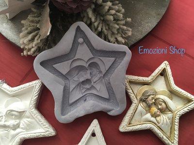 Stampo Stella Di Natale.Stampo Stella Di Natale Con Sacra Famiglia Materiali Materiali