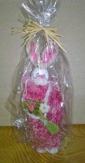 Coniglietta rosa morbida