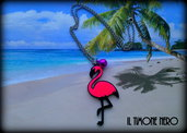 "Pendente ""Pink Flamingo"""