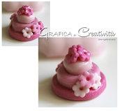 Mini cake segnaposto con fiori