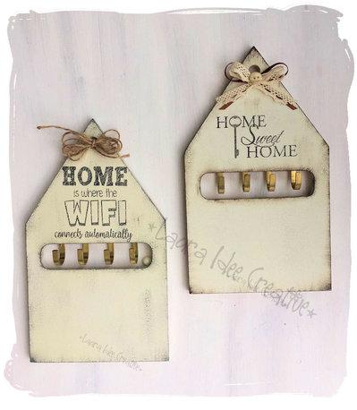 Portachiavi da parete in legno personalizzato in stile - Regali casa nuova ...