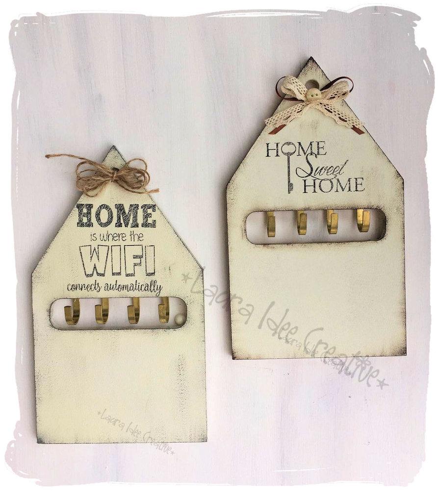Portachiavi da parete in legno personalizzato in stile shabby p su misshobby - Idee regalo casa nuova ...