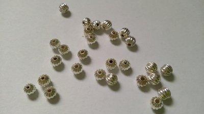 Perline distanziatrice in ottone Silver plated