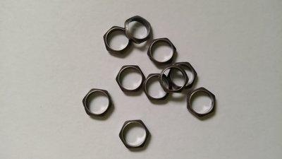 Distanziatori esagonali metallo grigio