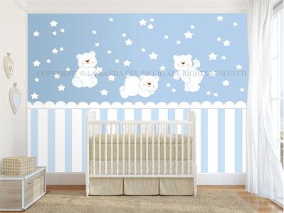 Orsetti Polari Adesivi murali bambini