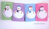"Sticky note adesivi in carta ""Snowman"" (circa 10x6.5 cm)"