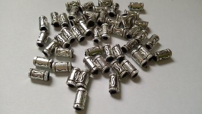 Perline distanziatori in acrilico argentate