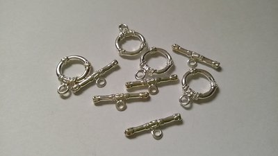Chiusura a T Silver plated