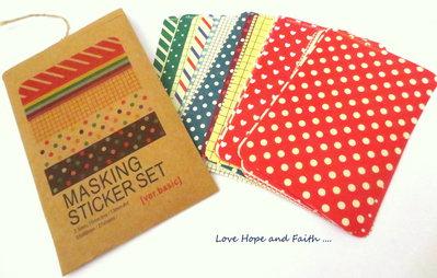 Scrapbooking Masking Tape Adesivi (27 fogli)