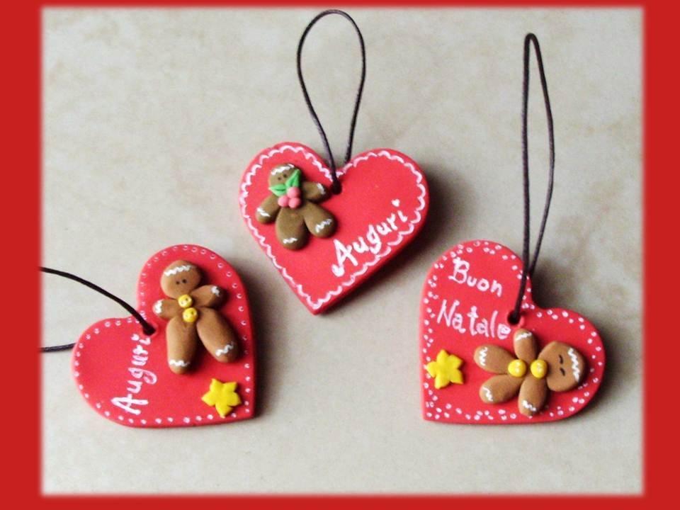 Decorazioni natalizie cuoricini feste natale di - Decorazioni natalizie con il legno ...