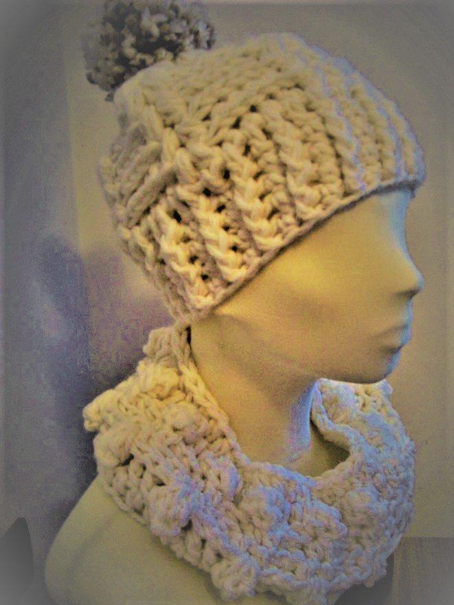 Completo berretto, scaldacollo in lana