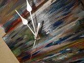 Orologio da parete multicolor in legno - Stile moderno