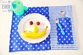 Tovaglietta per pranzo in asilo personalizzata per bimbo o bimba