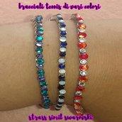 braccialetto tennis con catena veneziana (vari colori disponibili)