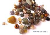 """LOTTO 50 gr perle in vetro di Bohemia """"Lumaca"""" (cod.PRECIOSA)"""