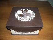 Scatola contenitore porta cioccolatini-praline Porta bustine tè o tisane