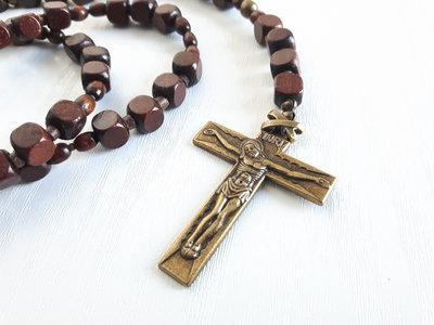 Collana di Legno di disegno rosario