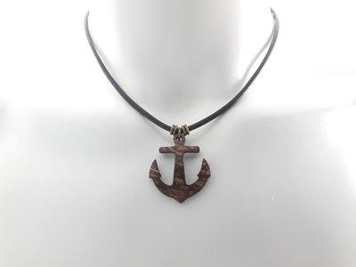Collana di Cuoio marrone con l'ancoraggio di Cocco