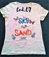 "T-shirt ""SKY AND SAND"" artigianale"